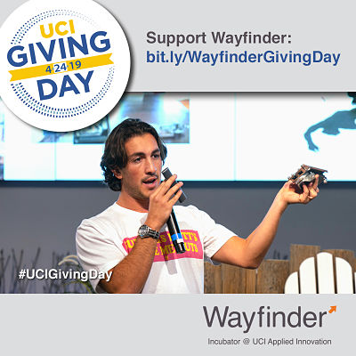 2019 Giving Day UCI Wayfinder Startup Incubator