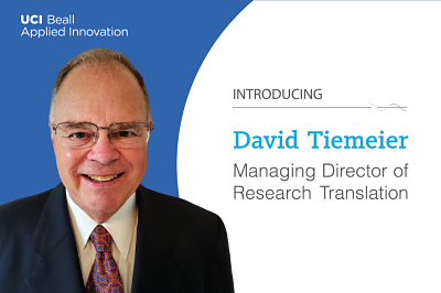 David Tiemeier Named Managing Director of Research Translation at UCI Beall Applied Innovation