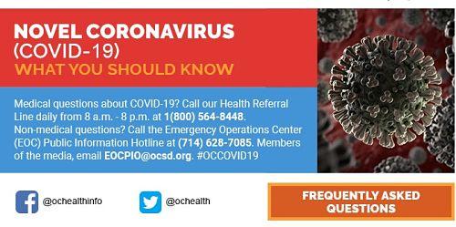 OC Health Coronavirus Info