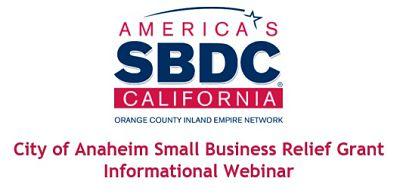SBDC Anaheim Small Business Grants