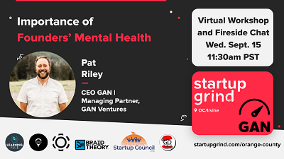 Startup Grind OC Fireside Chat with Patrick Riley